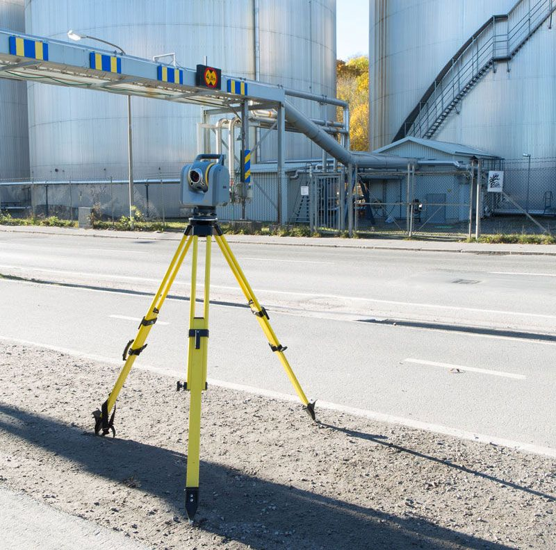 Surveying camera equipment at an industrial plant